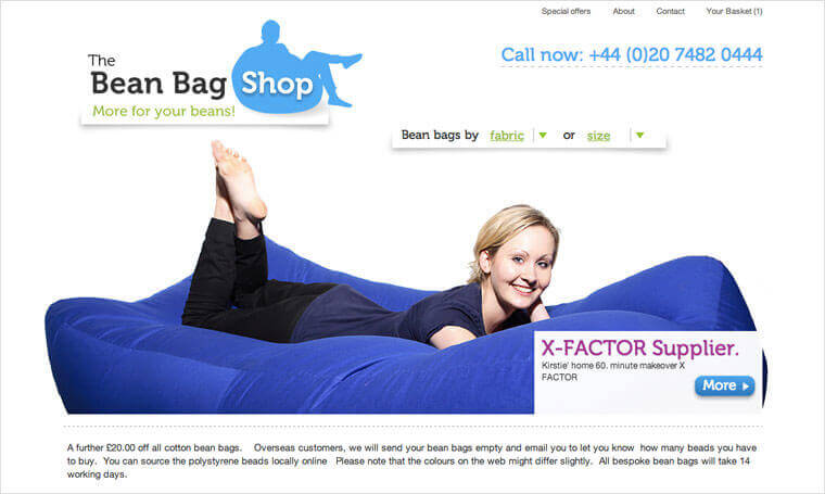 The Bean Bag Shop screenshot 4